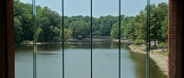 Westhampton Lake as seen from the Student Commons