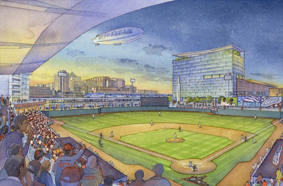 Shockoe Baseball Stadium Rendering